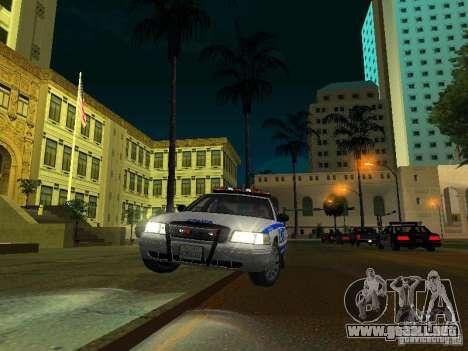Ford Crown Victoria 2009 New York Police para la vista superior GTA San Andreas