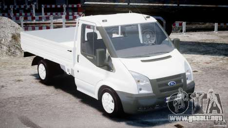 Ford Transit Pickup 2008 para GTA 4 vista interior
