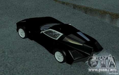 Spada Codatronca TS Concept 2008 para visión interna GTA San Andreas