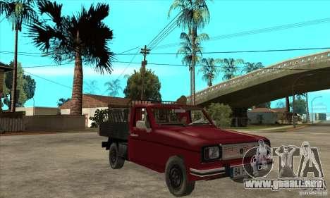 Anadol Pickup para GTA San Andreas vista hacia atrás