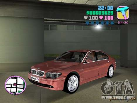 BMW 760 Li para GTA Vice City left