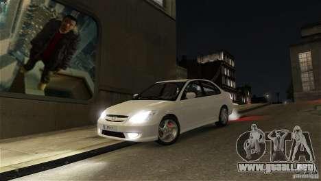 Honda Civic V-Tec para GTA 4 vista hacia atrás