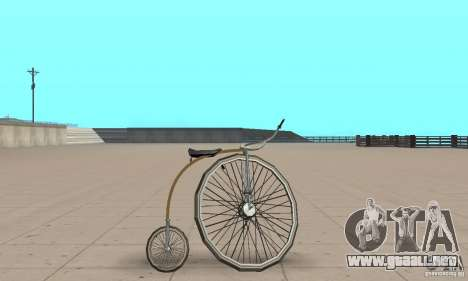 Penny-Farthing Ordinary Bicycle para GTA San Andreas vista posterior izquierda