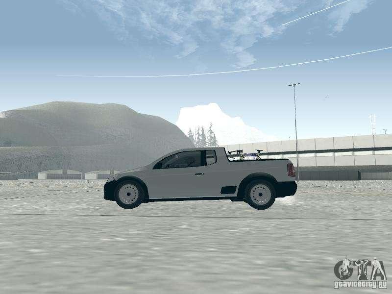 Volkswagen Saveiro 1.6 2009 для GTA San Andreas вид сзади слева.