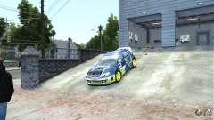 Subaru Impreza WRX STI Rallycross SHOEL Vinyl para GTA 4