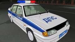 VAZ 2115 policía DPS para GTA San Andreas