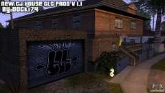 Nueva casa CJ (Cj nueva casa GLC prod v1.1) para GTA San Andreas