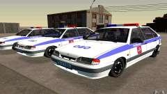 Vaz 2114 PSB policía para GTA San Andreas