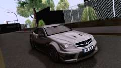 Mercedes-Benz C63 AMG Coupe Black Series para GTA San Andreas