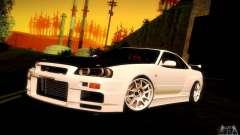 Nissan Skyline GT-R R34 para GTA San Andreas