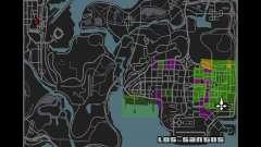 MapaLista de GTA IV para GTA San Andreas