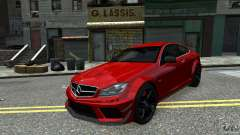 Mercedes Benz C63 AMG Black Series 2012 para GTA 4
