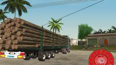 El portador de madera remolque KRONE