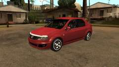 Dacia Logan Rally Dirt para GTA San Andreas