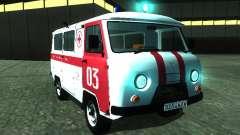 3962 UAZ ambulancia para GTA San Andreas