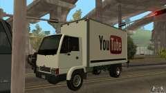 Camión con logotipo de YouTube
