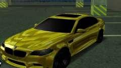 BMW M5 F10 Gold para GTA San Andreas