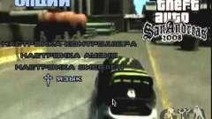 Video de Gta4 menú deriva para GTA San Andreas
