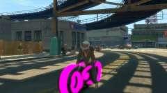 Motocicleta del trono (neón rosa)