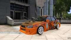 Subaru Impreza WRX STi GDB Team Orange para GTA 4