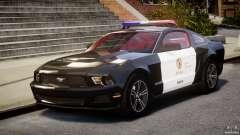 Ford Mustang V6 2010 Police v1.0 para GTA 4