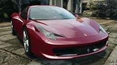Ferrari 458 Italia 2010 v2.0 para GTA 4