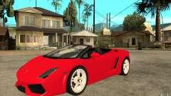 Lamborghini Gallardo LP560 Spider para GTA San Andreas