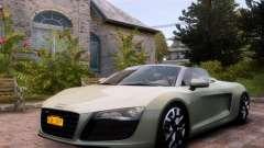 Audi R8 Spyder 5.2 FSI quattro V4 EPM para GTA 4