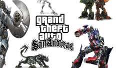 Imágenes de arranque en el estilo de transformadores para GTA San Andreas
