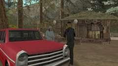 En una visita a la abuela para GTA San Andreas