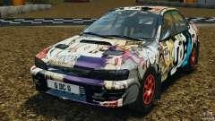 Subaru Impreza WRX STI 1995 Rally versión олива para GTA 4
