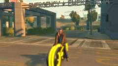 Motocicleta del trono (amarillo neón)
