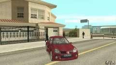 Renault Clio Fase 2 Borgoña para GTA San Andreas