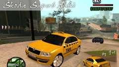 Skoda Superb TAXI cab para GTA San Andreas