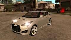 2012 Hyundai Veloster plata para GTA San Andreas
