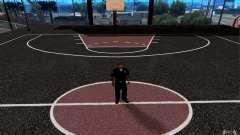 La nueva cancha de baloncesto