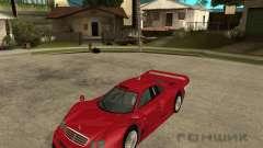 Mercedes-Benz CLK GTR road version para GTA San Andreas