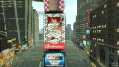 Timesquare Budweiser MOD para GTA 4