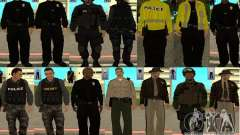Pak pieles LAPD para GTA San Andreas