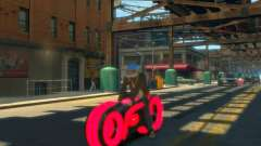 Motocicleta del trono (neón rojo) para GTA 4
