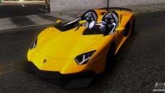 Lamborghini Aventador J TT Black Revel para GTA San Andreas