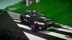 Audi S5 Hungarian Police Car black body para GTA 4