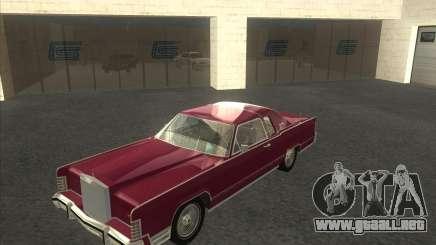 Lincoln Continental Town Coupe 1979 para GTA San Andreas