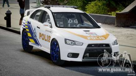 Mitsubishi Evolution X Police Car [ELS] para GTA 4