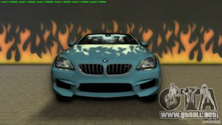 BMW M6 2013 para GTA Vice City
