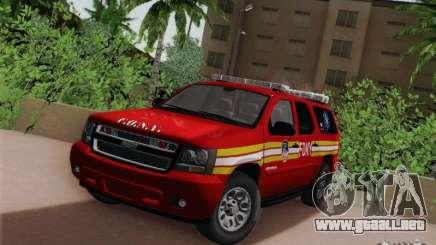 Chevrolet Suburban EMS Supervisor 862 para GTA San Andreas