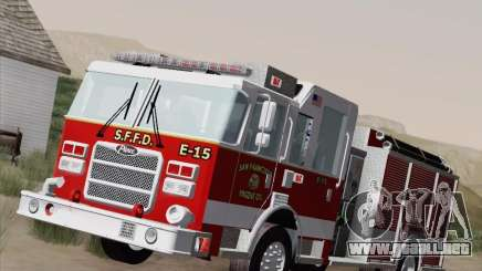 Pierce Pumpers. San Francisco Fire Departament para GTA San Andreas