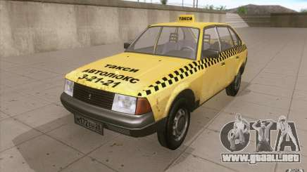 AZLK Moskvich 2141 Taxi v2 para GTA San Andreas