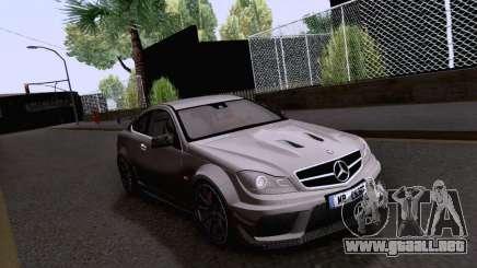 Mercedes-Benz C63 AMG Coupe Black Series para GTA San Andreas