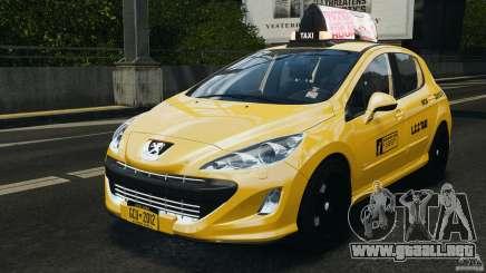 Peugeot 308 GTi 2011 Taxi v1.1 para GTA 4